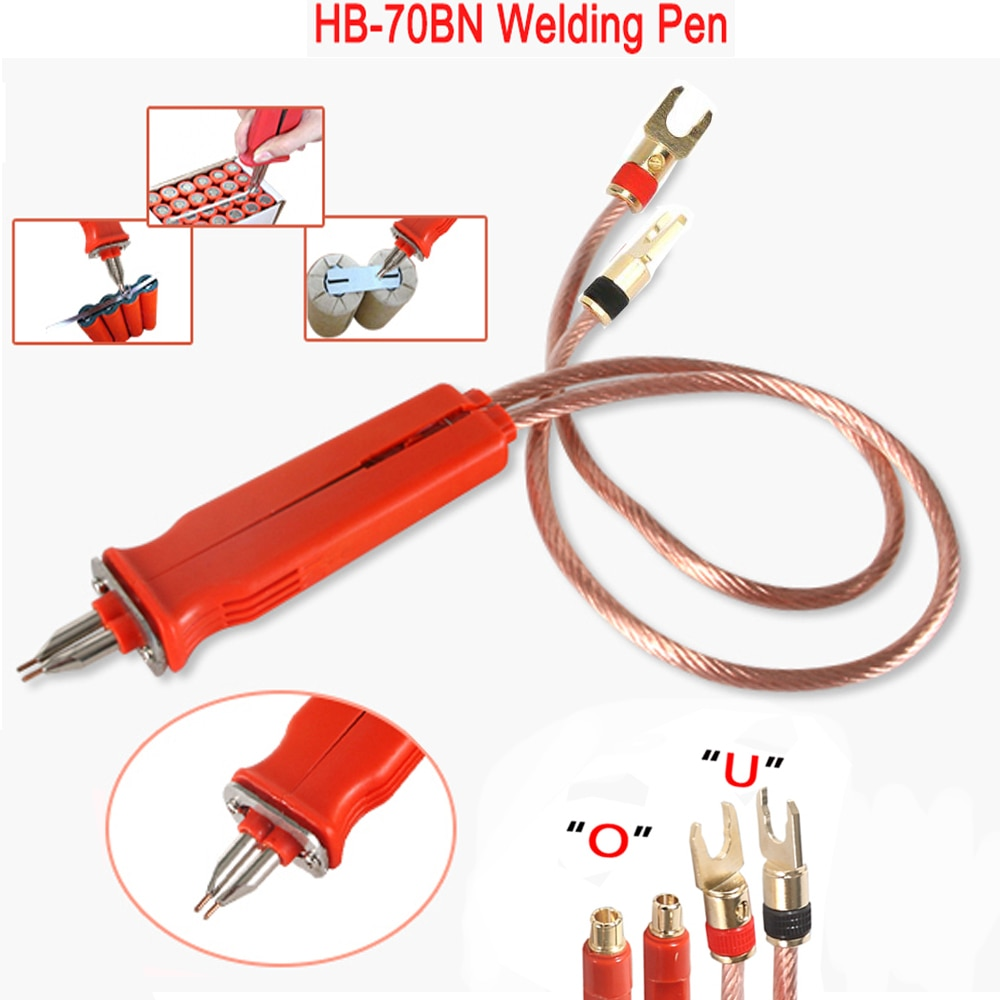 HB-70B Spot Welding Pen handle For 18650 Lithium Battery Production DIY Pulse Welding Pen Remote Welder Large Size Battery Pack pulse production technology