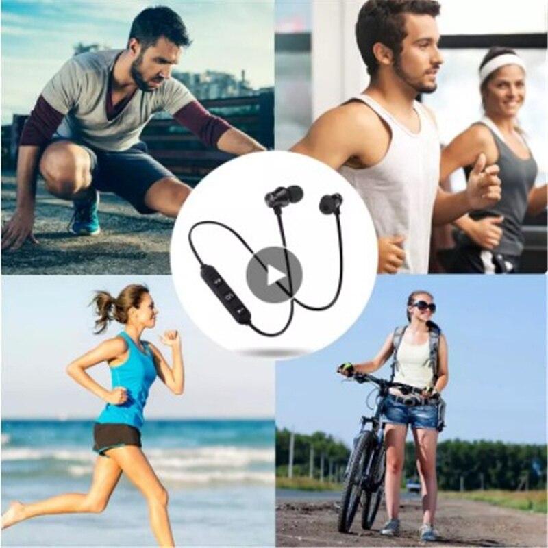 S8 Magnetico Senza Fili Di Bluetooth Del Trasduttore Auricolare Cuffie Stereo Bass Musica Auricolari Con Microfono Auricolare
