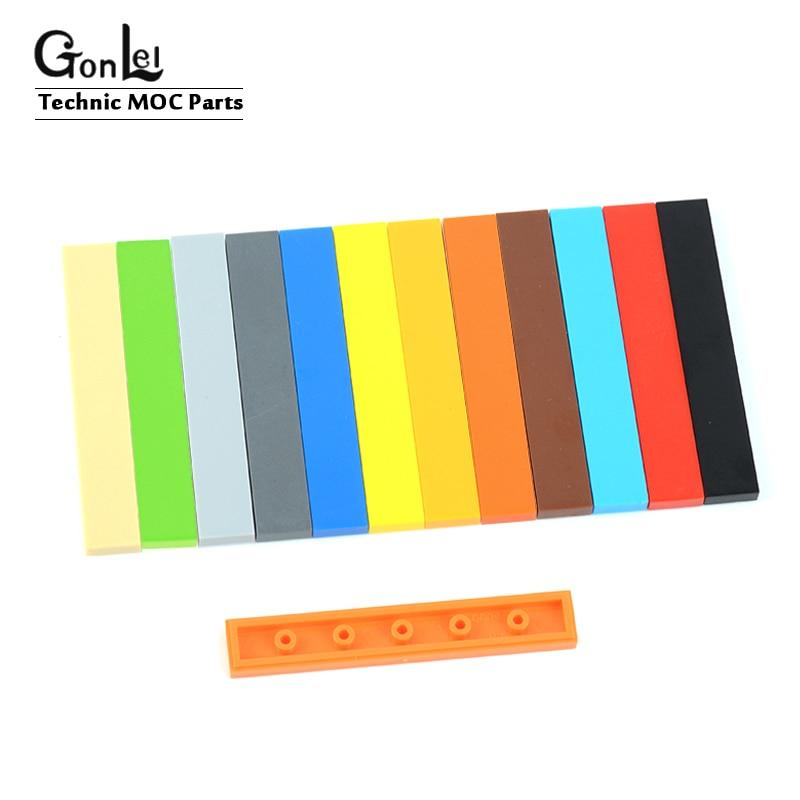 50Pcs/Lot Elements MOC Brick Tiles 1x6 with Groove Tablet Building Blocks DIY Toys Compatible with 6636 Bricklink Rebirckable