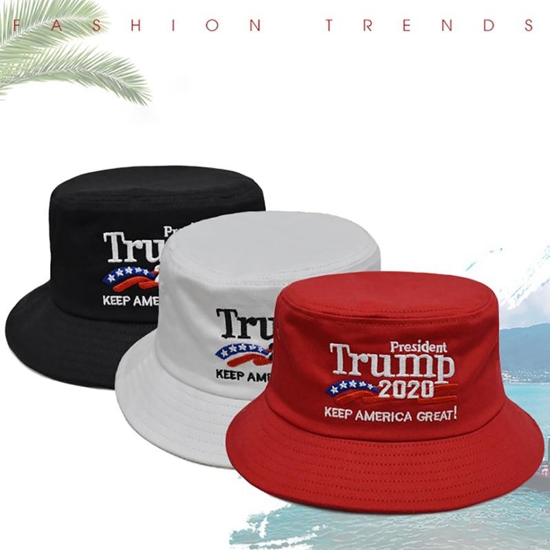 Gorra de elecciones Presidente sombrero de cubo 2020 mantener América gran bandera Maga papá gorra de béisbol roja Snapback sombrero hombres mujeres