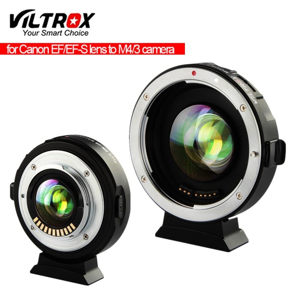 Viltrox EF-M2II سرعة الداعم محول الاتصال المخفض السيارات التركيز 0.71x لكانون EF جبل عدسة ل باناسونيك أوليمبوس M4/3 كاميرا