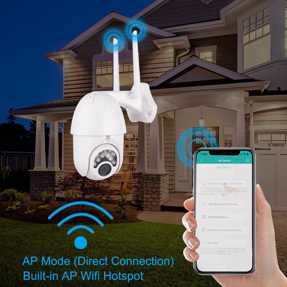 Cámara impermeable 1080P 2MP exterior Wifi cámara de seguridad de dos vías de Audio para el hogar cámara de visión nocturna segura