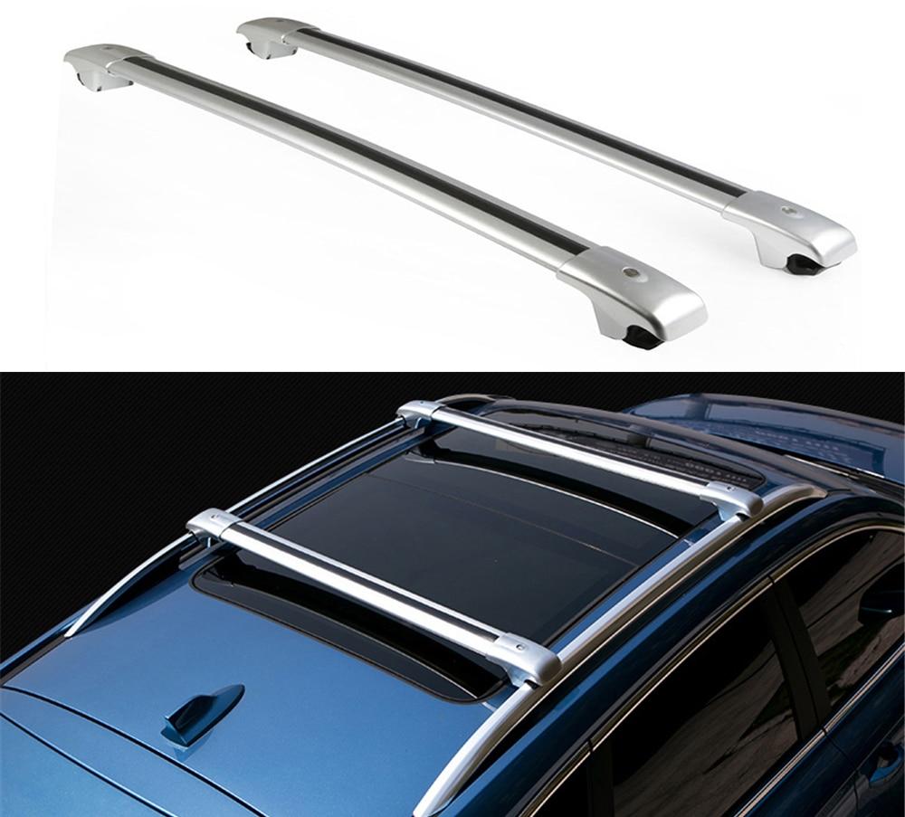 2 uds ajuste para chevrolet-chevy TRAX 2013-2019 barras cruzadas bloqueables barras cruzadas techo Top riel equipaje portador de carga-plata
