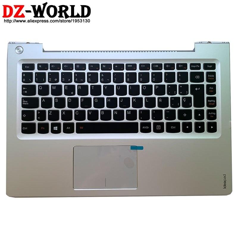 New/orig Palmrest Upper Case Spanish Backlit Keyboard Touchpad for Lenovo Ideapad U330 U330T U330P Laptop C Cover 90203545