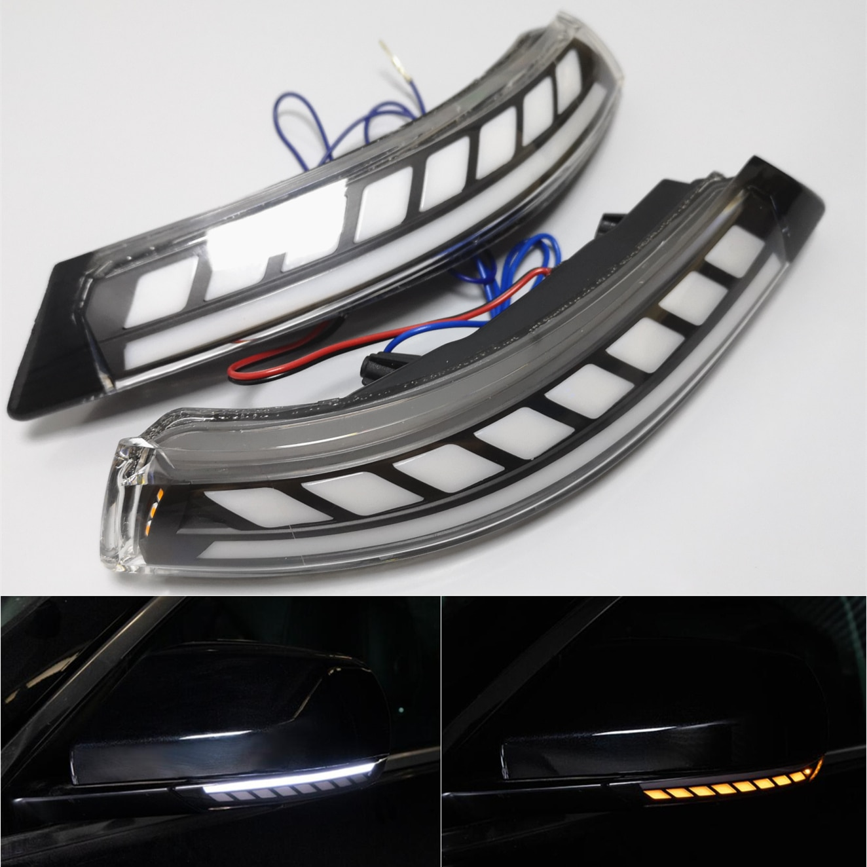 Para Cadillac ATS ATS-V 2013-2019 LED Luz de señal de giro dinámica intermitente secuencial lado ala espejo retrovisor indicador lámpara embellecedora