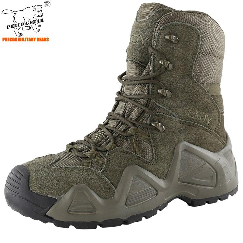 Botas de combate militares resistentes à água botas táticas altas airsoft botas de combate militar de alta qualidade