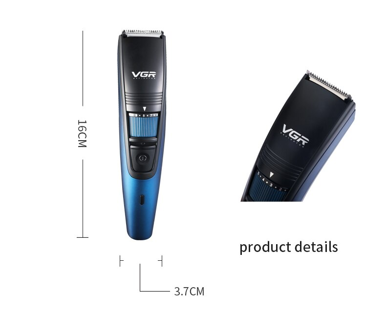 Professional Electric Hair Clipper Shaver USB Rechargeable Waterproof Beard Trimmer Shaver Hair Trimmer Adjustable limit comb enlarge