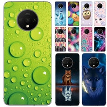 Soft Phone Casefor Oneplus 7T Cases Panda Funda Colorful Flower Silicone TPU Back Cover Shell
