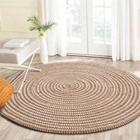 knit woven round carpets for table computer chair area rug living room yoga rug children study room footcloth prayer mats
