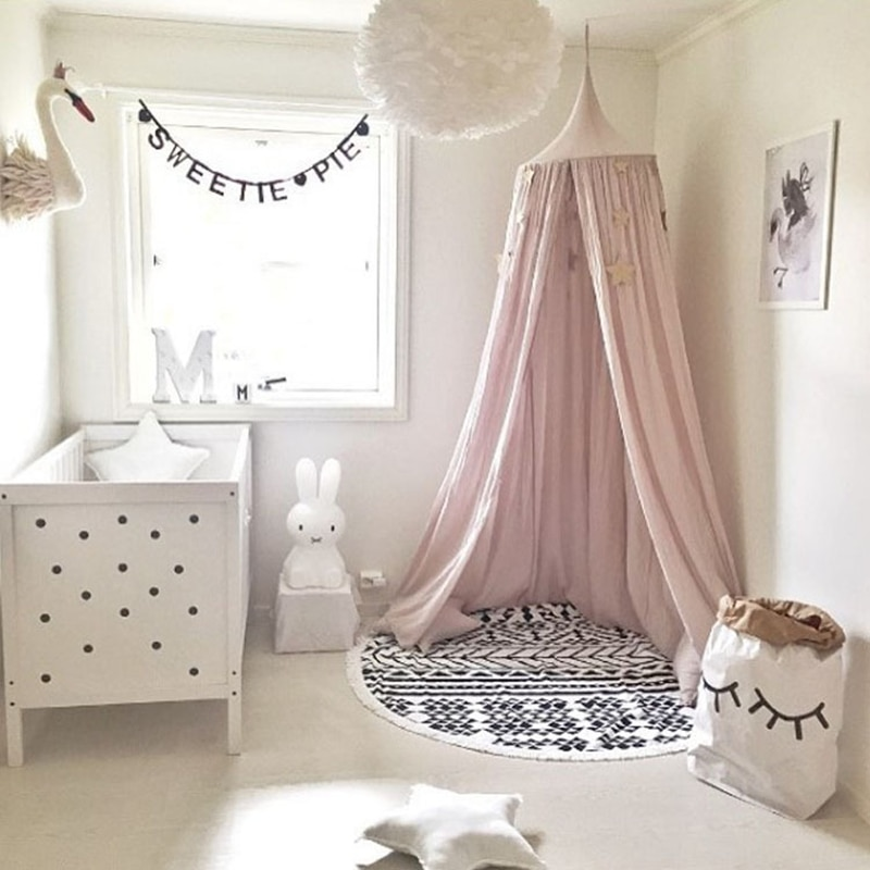 Baby Bed Mosquito Net Kids Bedding Decor Round Dome Hanging Bed Canopy Curtain Children Baby Room Decoration Crib Netting Tent enlarge