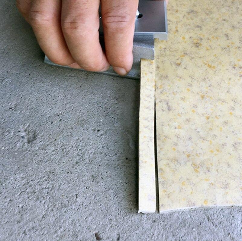 Flyer plástico da faca da correção da borda reta do aparador de assoalho de linho de madeira do pvc