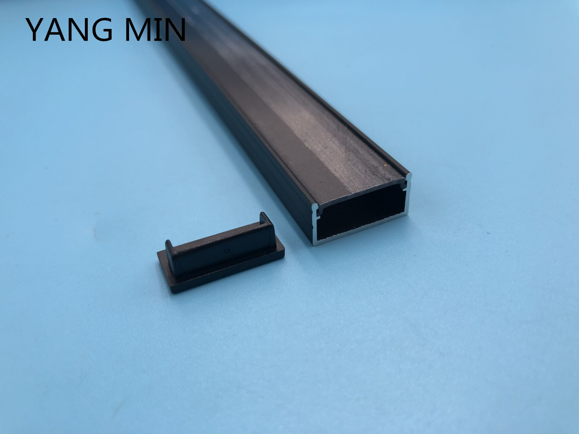 Free Shipping Hot Sell 2m per piece led aluminum profile slim with clear or milky diffuse cover and Fittings enlarge