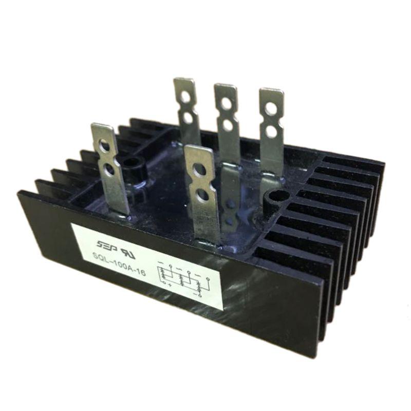 Retificador da ponte do diodo da alta potência 3-fase da onda completa da tensão de 100a 1600v