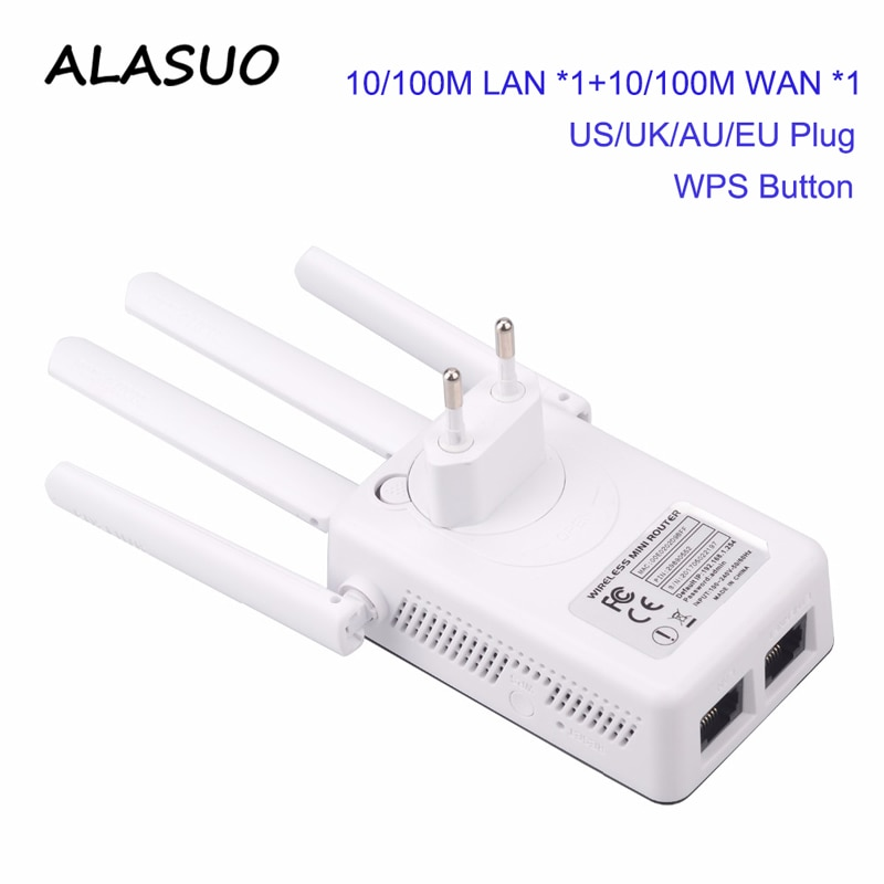 Wireless WiFi Repeater Extender 2.4G WiFi Booster 300 Amplifier Large Router Range Signal Repeator Access Point Home Network