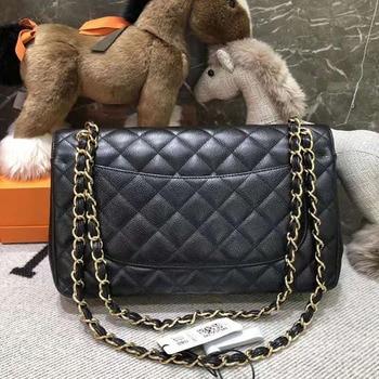 Luxury Women's Handbag Bags Top Quality Fashion Casual Plaid Chain Shoulder Bag Cowhie And Lambskin Classic Designer Flap Bags