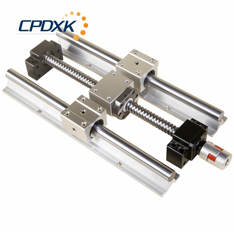 CNC راوتر Ballscrew SFU1605 + 16 مللي متر الخطي دليل SBR16 + SBR16UU 4 قطعة + مؤيد BK12BF12 + المقرنة 8*10 مللي متر