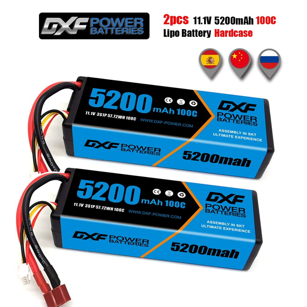 2PCS DXF  Battery 3S 4S 6S lipo 11.1V 14.8V 22.2V 7000mah 6750mah 5200mah 60C 100C hardcase for RC TRXX Car Boat Helicopter enlarge