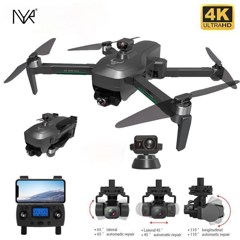 NYR SG906 MAX Pro 2 GPS Drone 4K HD Camera Laser Obstacle Avoidance 3-Axis Gimbal WiFi FPV Professional RC Quadcopter Dron