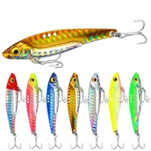 8/13/16/20g 3D Blue Yellow Pink Eyes Metal Vib Blade Lure Sinking Vibration Baits Artificial Vibe for Bass Pike Perch Fishing