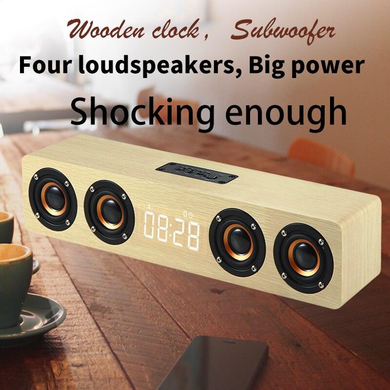De alta potencia Altavoz Bluetooth Supergraves Subwoofer envolvente estéreo altavoz para Soporte para PC micrófono AUX TF card FM Radio columna caja