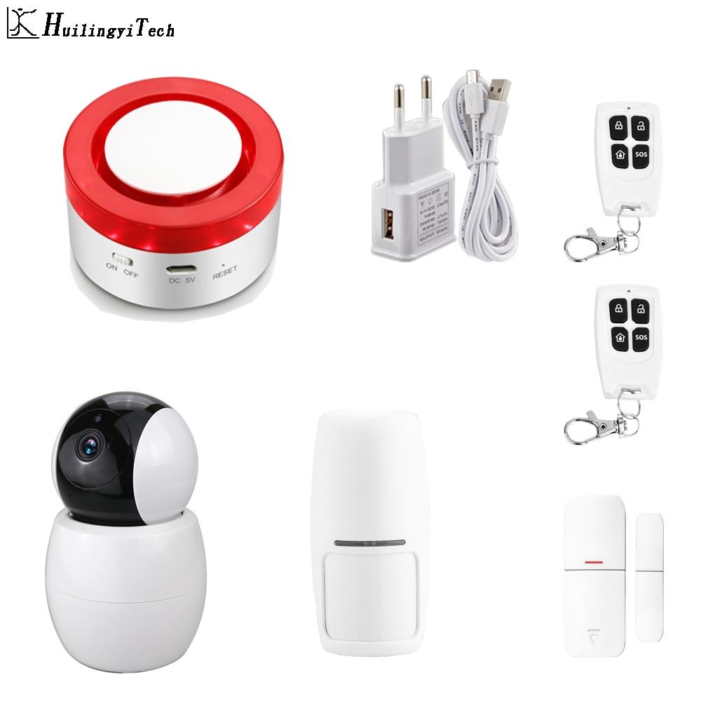 Беспроводная домашняя система охранной сигнализации Tuya Smart Life, управление через приложение с датчиком движения с автоматическим циферблат...