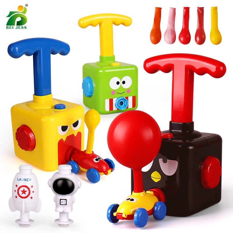 Children Car Inertial Power launcher Balloon Toy Boy Hot Frog Duck Model Educational Science Experiment Toys For Kid 3 Year Gift
