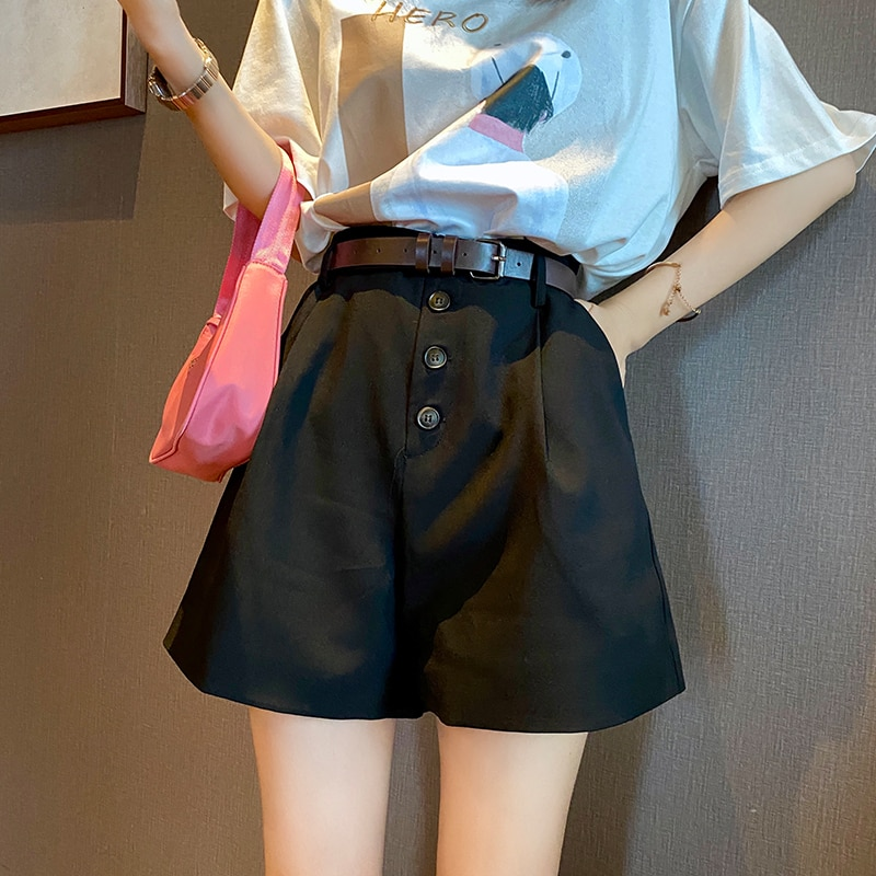 MISHOW 2020 Summer New Shorts Women Wide Leg Pants Female Casual Short Trousers  MX20B2403
