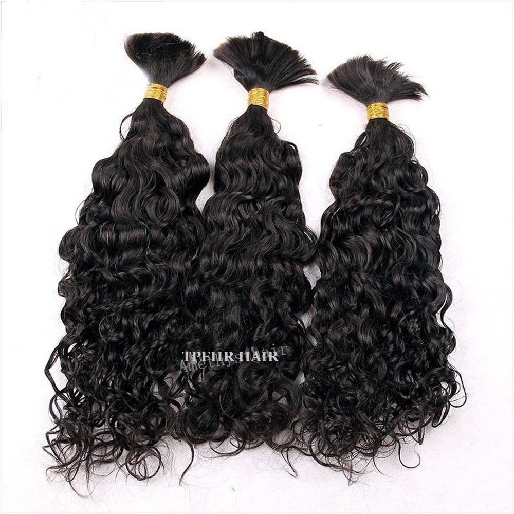 Свободные волнистые бразильские человеческие волосы оптом для плетения, вьющиеся волосы в стиле, накладные человеческие волосы, не утоплен...