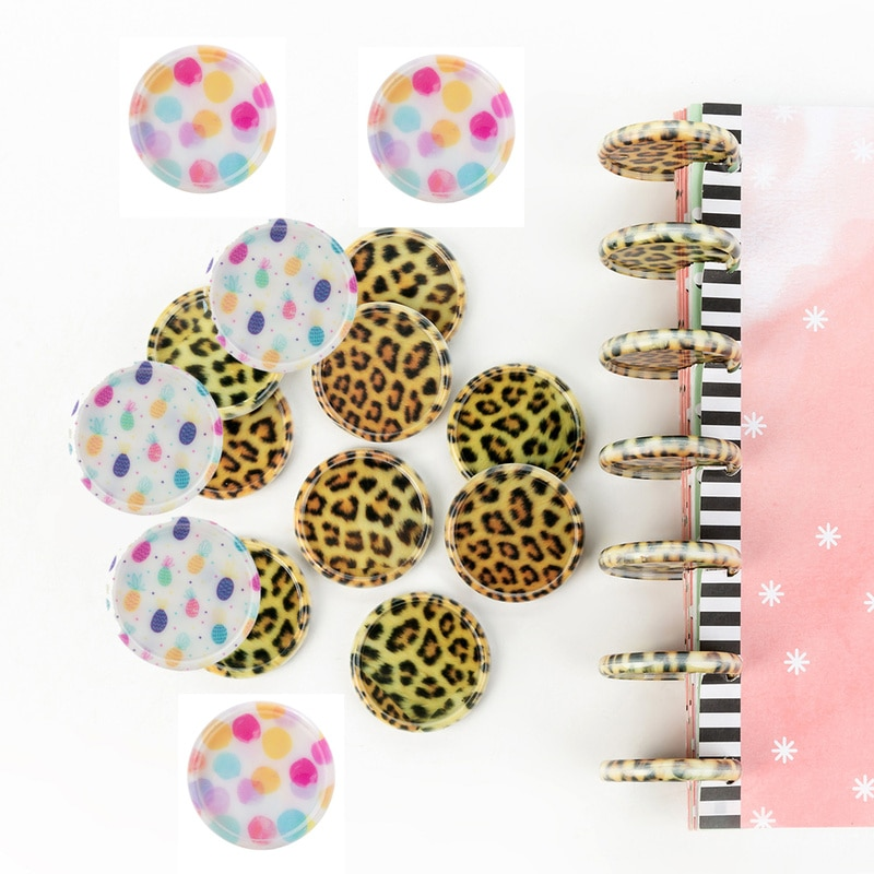 100PCS New Mushroom Hole Notebook Binding Discs 35MM Plastic Binding Rings Notebook Planner Binder Ring School Supplies