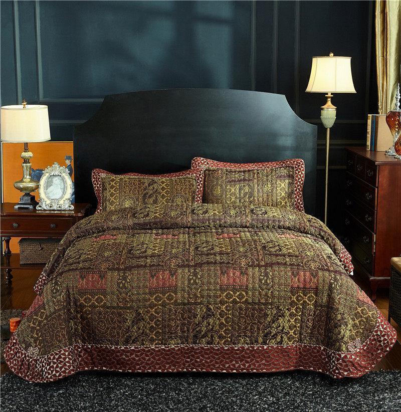 طقم أغطية سرير مبطن عتيق الطراز ، 3 قطع ، مرقع عتيق ، غطاء قابل للعكس ، مفرش سرير فائق النعومة ، مقاس كوين ، للصيف