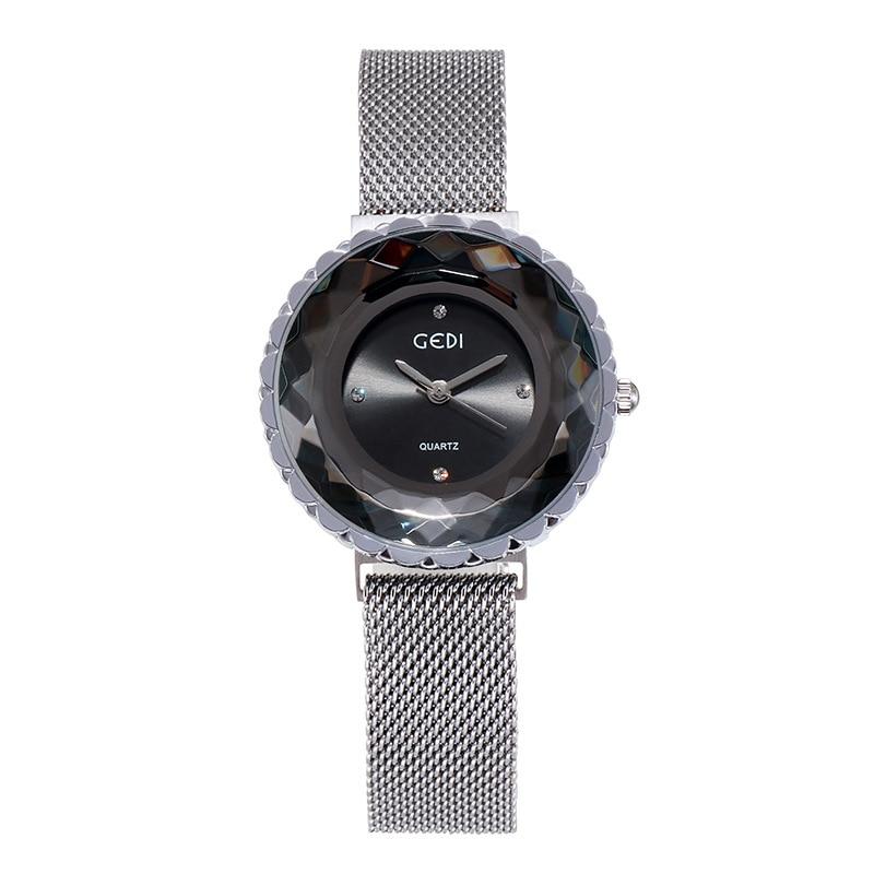 GEDI Watch Women Dress Spot Rhinestone Simple Magnetic Buckle Water Resistant Quartz Wristwatch for Women Gifts Reloj Para Mujer enlarge