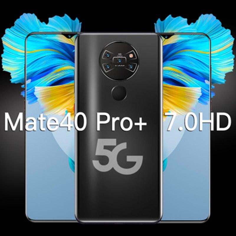 الهاتف الذكي Mate40 Pro + HUAWE الإصدار العالمي شاشة كاملة 7.3 بوصة معالج عشاري النواة 6000mAh 12GB 512GB 4G LTE 5G شبكة الهاتف المحمول