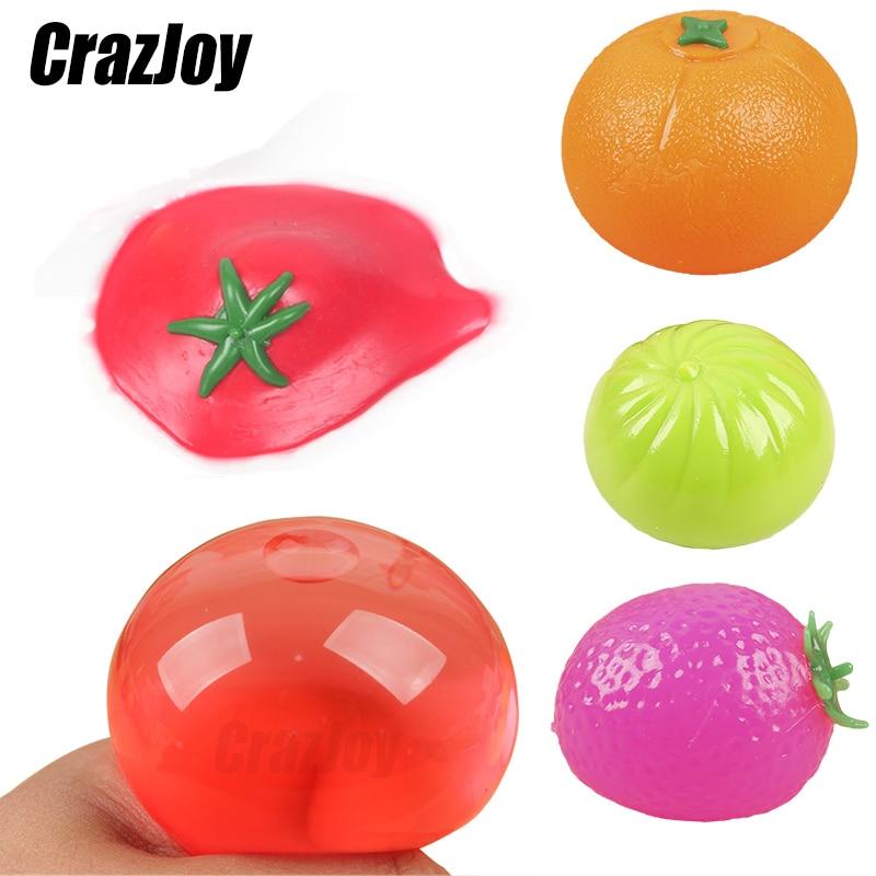 Фрукты, фиджет, стикеры, мячи из пластика, медленно восстанавливающие форму, сжимаемые мячи, игрушки, сжимаемые мячи, Подарочные мячи для взр...