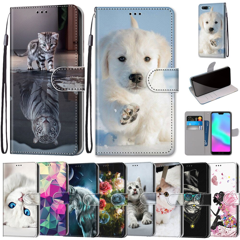 Funda abatible de cuero para Huawei Honor 9 funda cartera para Huawei Honor 9 Lite soporte de tarjeta para Honor 9X CN/9X Pro funda protectora