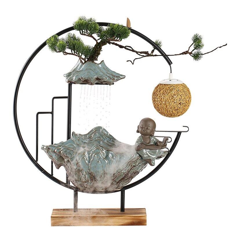 Chinese Stijl Stromend Water Maken Geld Ornamenten Terugstromen Wierook Fontein Woonkamer Office Desktop Keramiek enlarge