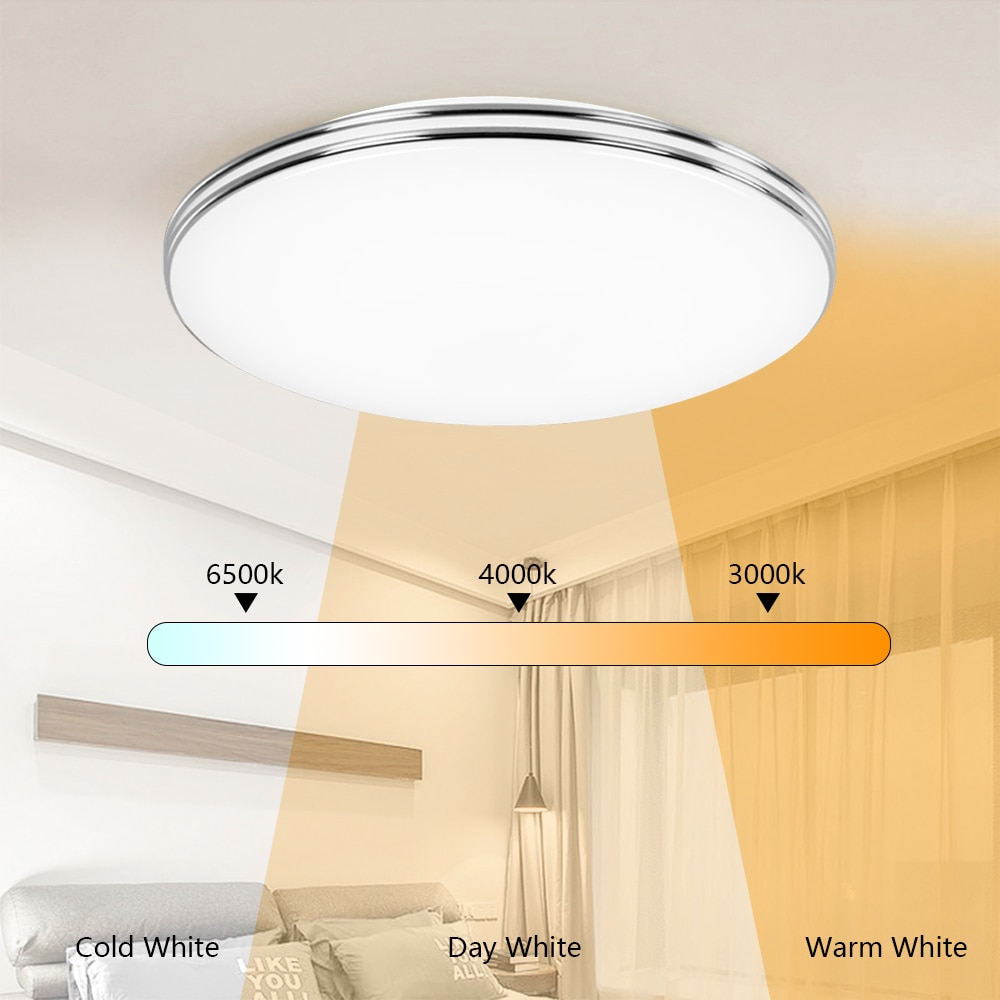 Ultra Thin Dimmable LED Ceiling Lamp Modern Panel Light 12W/18W/24W/48W 220V Bedroom Kitchen Flush Mounted