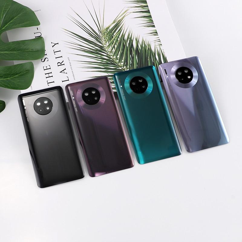 Coque arrière en verre pour Huawei Mate 30, porte de batterie, Logo réel, colle d'objectif d'appareil photo