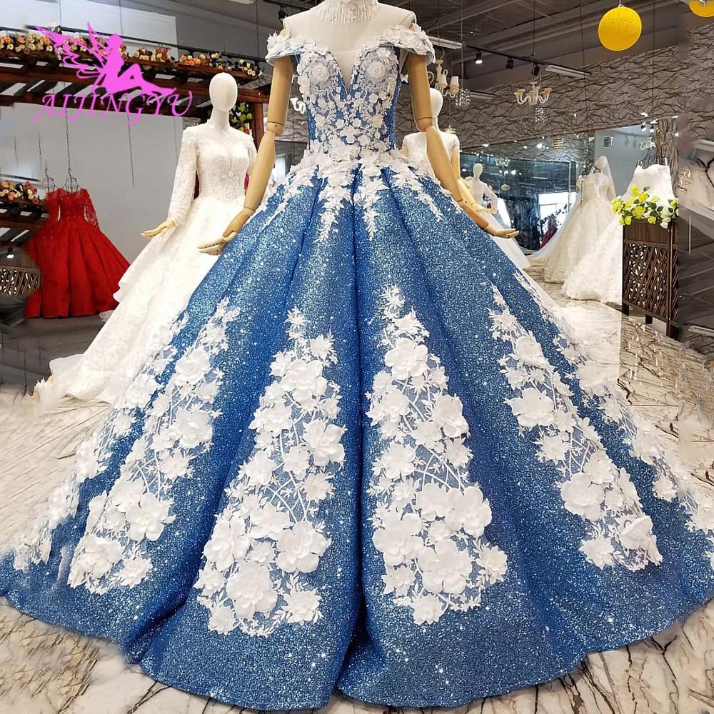 AIJINGYU-فساتين زفاف أصلية ، فستان زفاف ، على الطراز التركي ، بسيط ، Belarus ، بأسعار معقولة ، متجر على الإنترنت