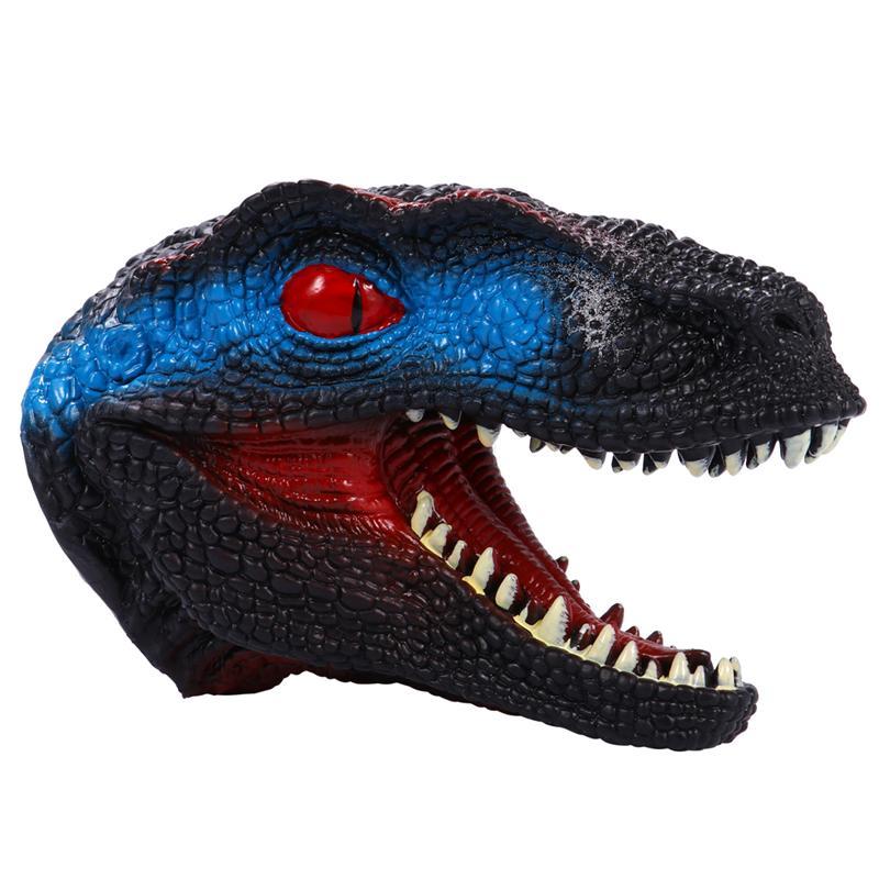 Juguete de marioneta de mano de dinosaurio, juguete de cabeza de dinosaurio de goma suave de 7 pulgadas para niños, modelo regalo