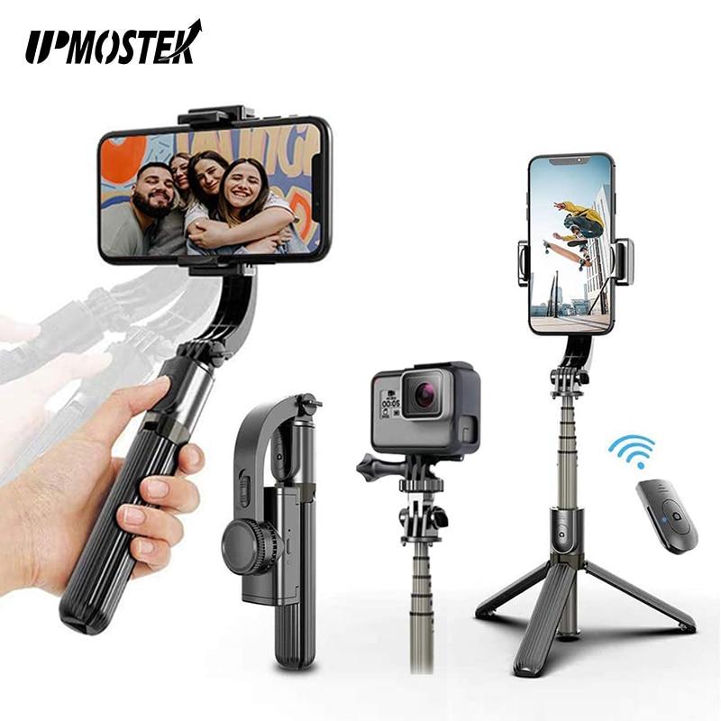 UPMOSTEK-مثبت جيمبال للهاتف ، توازن تلقائي ، عصا سيلفي ، ترايبود مع جهاز تحكم عن بعد بلوتوث للهاتف الذكي ، كاميرا Gopro