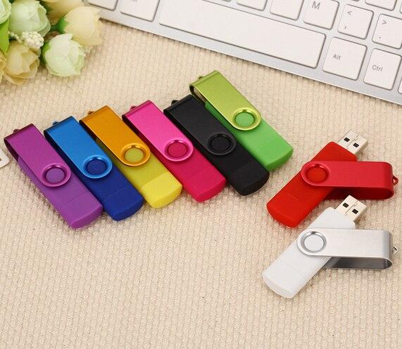 ¡Nuevo! OTG unidad flash USB de 32gb, 16gb y 8 gb, Memoria pendrive de metal de 32gb, 64 gb y 128 gb, memoria usb, unidad Flash