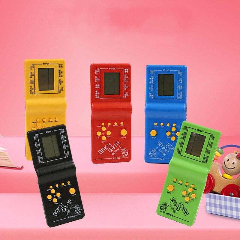 Портативный игровой плеер Tetris с ЖК-дисплеем, электронные игрушки, Карманная игровая консоль, классический подарок детства для взрослых и де...