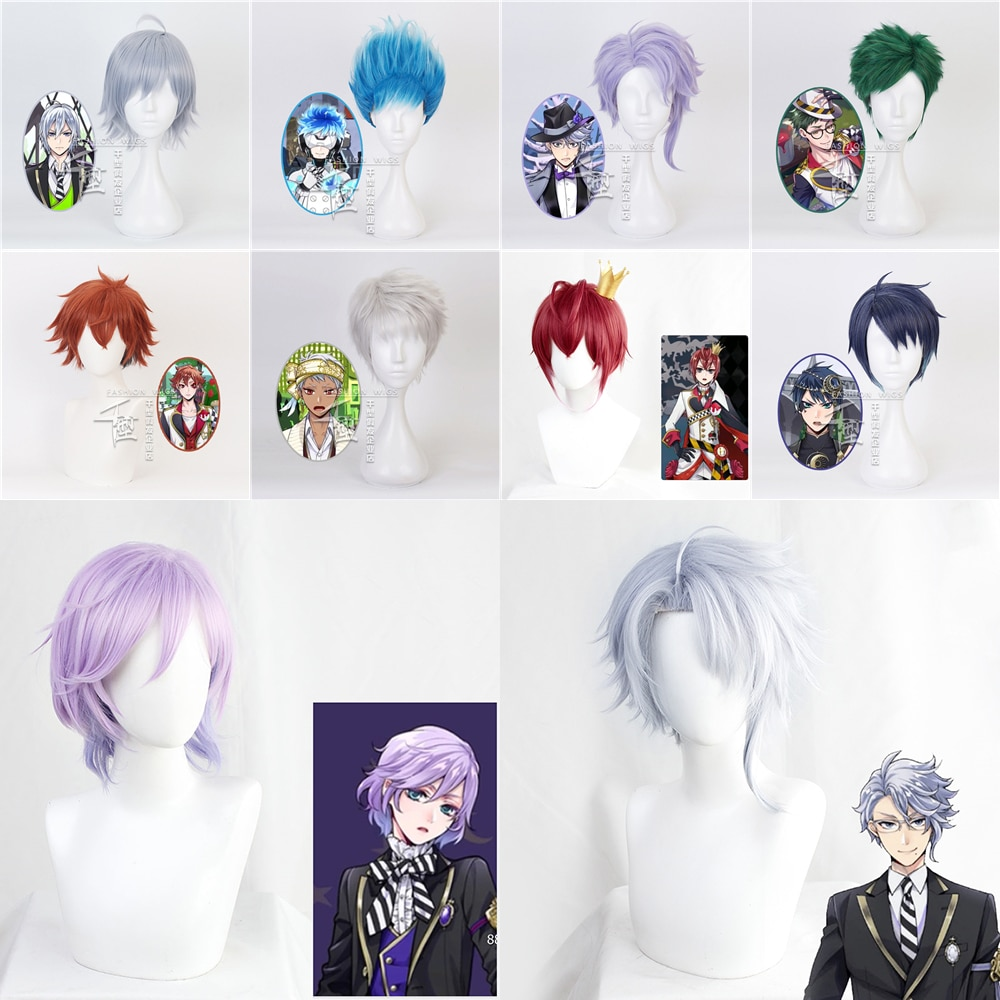 Game Twisted Wonderland Role Play Azul ,trey Clover ,ortho, Deuce ,silver ,kalim Al-asim ,epel ,ace Trappola Cosplay Wigs
