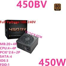 جديد PSU ل EVGA ماركة 80 زائد البرونزية غير وحدات GTX1660TI RX570 مروحة كاتمة للصوت امدادات الطاقة 450 واط امدادات الطاقة 450BV