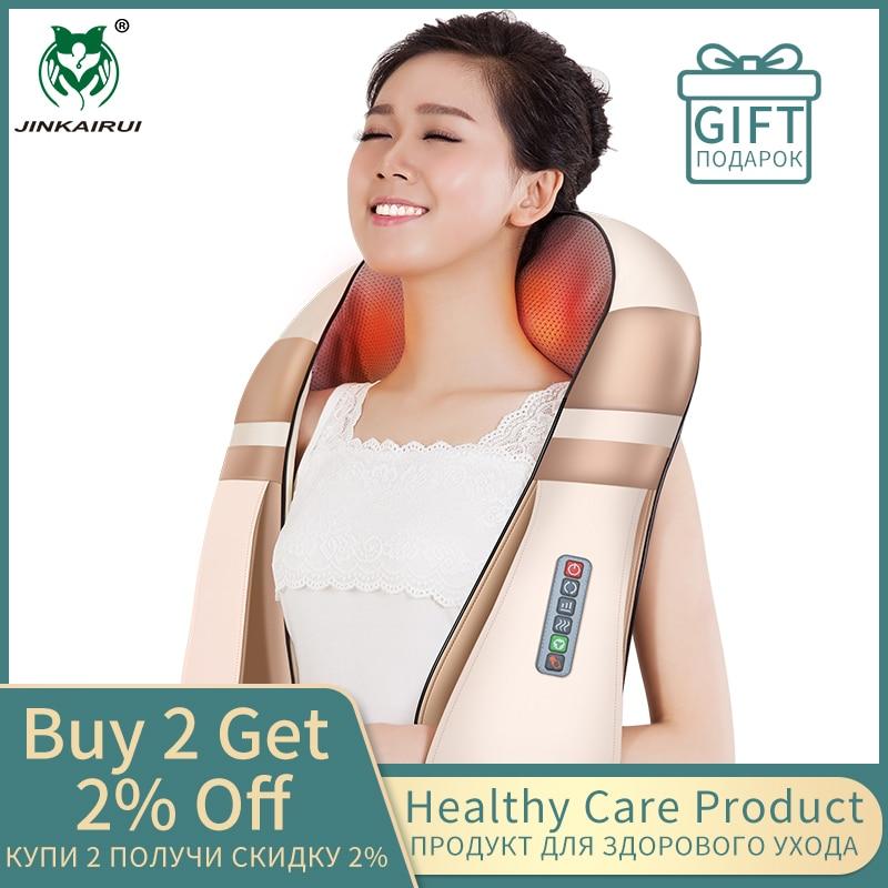 JinKaiRui U Form Elektrische Shiatsu Körper Schulter Neck Massager Zurück Infrarot 4D kneten Massage Auto Hause Beste Geschenk HealthCare