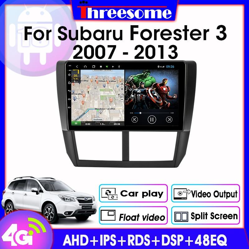 Android 9,0 Car Radio para Subaru Forester 3 SH 2007-2013 2 Din reproductor Multimedia navegación GPS DSP RDS 2 + 32G ventana flotante