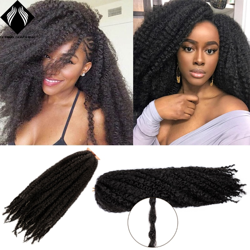 18 дюймовые волосы Marley для плетения крючком афро кудрявые синтетические плетеные волосы для плетения крючком удлинители волос оптом черные ...