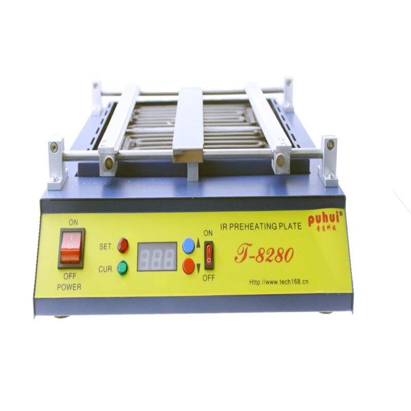 220 или 110 V Puhui T8280 PCB подогреватель ИК подогрева пластины T-8280 ИК-подогрева духовка 0-450degree Цельсия припоя ремонт