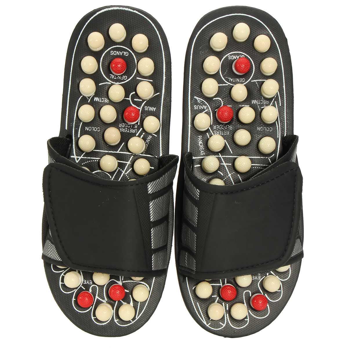 ユニセックス 1 ペア医療サンダル足マッサージスリッパ男性の女性のためリフレクソロジー指圧足ケア鍼マッサージの靴