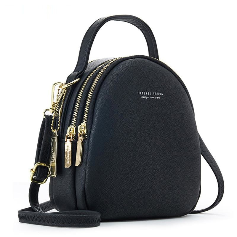Big Capacity 3 Layer Women Backpack Fashion Small Backpack Ladies Shoulder Crossbody Bag Soft Leather Female Mini Bolsa